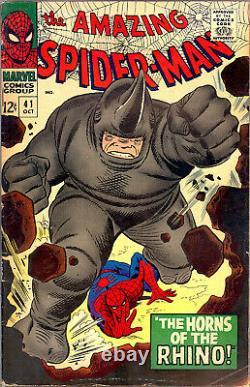 Amazing Spider-man #41 Cgc 0.5 First Rhino App Stan Lee John Romita Art 1966