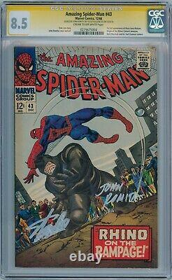 Amazing Spider-man #43 Cgc 8.5 Signature Series Signed Stan Lee John Romita Sr