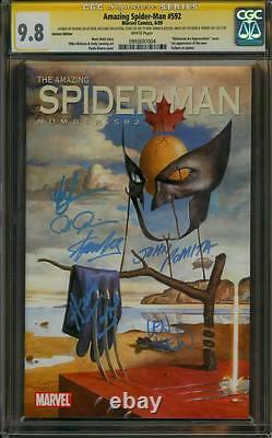 Amazing Spider-man 592 Cgc 9.8 6x Ss Stan Lee Romita Rivera Trimpe Mckone Wein