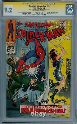 Amazing Spider-man #59 Cgc 9.2 Signature Series Signed Stan Lee John Romita Sr