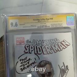 Amazing Spider-man 648 CGC 9.6 singed Stan lee Edgar Delgado, Dan Slott 3/30/13