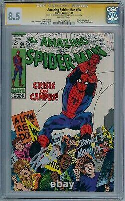 Amazing Spider-man #68 Cgc 8.5 Signature Series Signed Stan Lee John Romita Sr