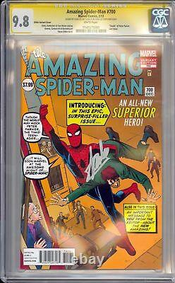 Amazing Spider-man #700 Ss Cgc 9.8 Signed On Stan Lee 90 Birthday Ditko Variant