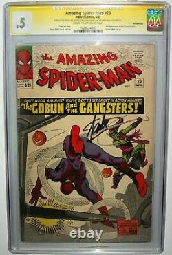 Amazing Spiderman #23 Stan Lee SS SIGNED CGC 0.5 3rd Green Goblin Ditko Art