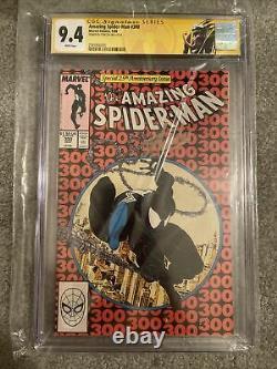 Amazing Spiderman #300 Cgc 9.4 SS Signed Stan Lee In Gold Venom Label