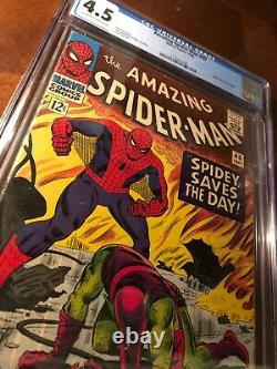 Amazing Spiderman #40 CGC 4.5 Origin of Green Goblin! OWithW Pages! Stan Lee