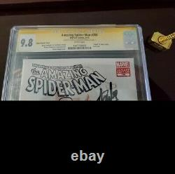 Amazing Spiderman #700 Cgc 9.8 Coipel Variant Signed Stan Lee & Ramos