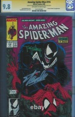 Cgc Ss 9.8 Amazing Spider-man #316 Classic Venom Cvr Signed Mcfarlane & Stan Lee