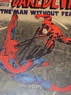 Daredevil #16 Signed by Stan Lee 1st John Romita Sr Spider-Man art ever. CGC 1.5