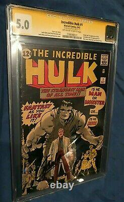INCREDIBLE HULK #1 CGC 5.0 SS Signed/Autograph by Stan Lee 1st App Hulk 1962
