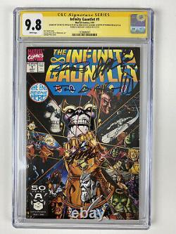 Infinity Gauntlet 1 cgc 9.8 ss Stan Lee +4! 2x Sketch (Rubenstein +Starlin)