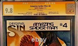 MARVEL Comic AMAZING SPIDER-MAN #4 CGC SS 9.8 X2 STAN LEE RAMOS VENOM 1st SILK