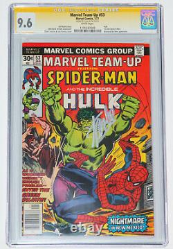 MARVEL TEAM-UP #53 CGC 9.6 SS Signed by STAN LEE! SPIDER-MAN, HULK, WHITE PAGES