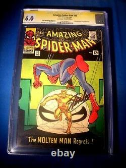 STAN LEE Signed 1966 Amazing SPIDER-MAN #35 SS Marvel Comics CGC 6.0 FN BOLD