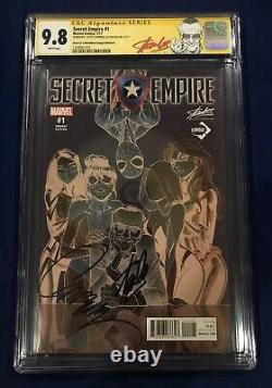 Secret Empire #1 CGC 9.8 Signed- Stan Lee & J. Scott Campbell STAN LEE RED LABEL