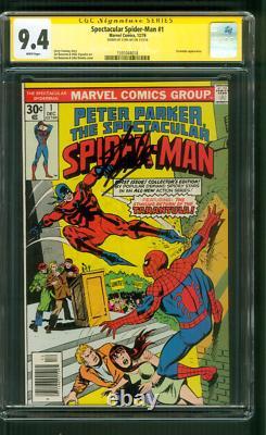 Spectacular SPIDER MAN 1 CGC SS 9.4 Stan Lee Auto Taranula 1976 John Romita art