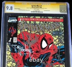 Spider-Man #1 PLATINUM EDITION CGC SS 9.8 SIGNED STAN LEE + MCFARLANE 1990