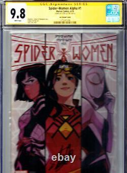 Spider-Women Alpha # 1 Stacey Lee Variant CGC 9.8 SS STAN LEE! Spider Verse