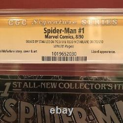 Spider-man 1 Torment Silver Variant Cgc 9.8 2x Ss Signed Stan Lee Todd Mcfarlane