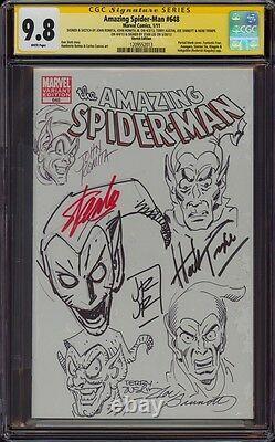 Spiderman 1 Cgc 9.8 6x Ss 5x Sketch Romita Austin Trimpe Sinnott Jrjr Stan Lee