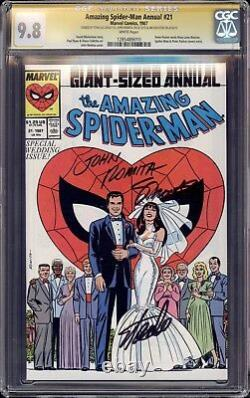 Spiderman Annual 21 Cgc 9.8 Ss Stan The Man Lee John Romita Jim Shooter Mint