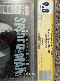 Superior Spider-Man #17 JONES VARIANT CGC 9.8 SS Signed by Stan Lee RARE