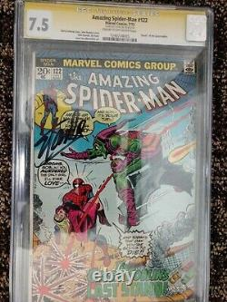 The Amazing Spider-Man #122, CGC SS 7.5 (VF-) Signed by Stan Lee CGC# 1240734005