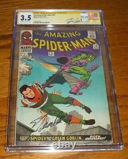 The Amazing Spider-Man # 39 CGC 3.5 STAN LEE Signature! Marvel Comics, 1966