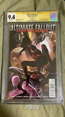 Ultimate Fallout #4 Djurdjevic Variant 1st Miles Morales CGC 9.4 Signed Stan Lee