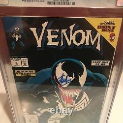 Venom Lethal Protector 1 BLACK COVER Printing Error CGC 7.5 Stan Lee Signed Case
