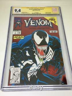 Venom Lethal Protector #1 Signed Stan Lee CGC 9.4 Bagley Cover