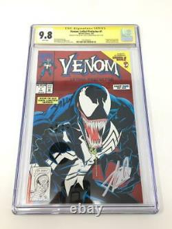Venom Lethal Protector #1 Signed Stan Lee Mark Bagley CGC 9.8 RARE HTF