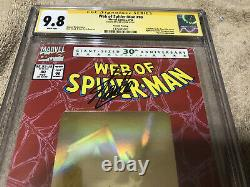 Web of SPIDER MAN 90 CGC SS 9.8 Stan Lee Signed Amazing Top 1 Gold Hologram