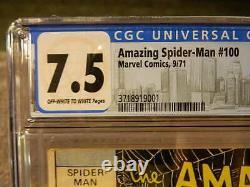 1971 Marvel Comics Amazing Spider-man #100 Anniversary Issue Stan Lee Cgc 7,5
