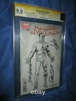 # 1 Spiderman Amazing Cgc 9.8 Ss Signé Par Stan Lee / John Romita Sr / Slott Variant