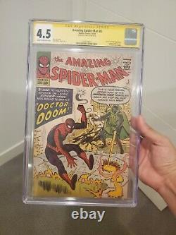 # 5 Spiderman Étonnant Cgc 4.5 Grades Stan Lee. 1er Doom Crossover
