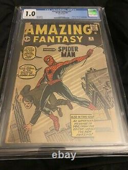 Amazing Fantasy#15 Cgc 1.0 Première Apparition De Spider-man, 8/1962, Stan Lee