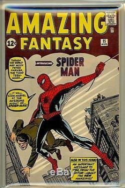 Amazing Fantasy # 15 Cgc 8.5 Vf + Stan Lee Restauré Clé Origine Rare Book