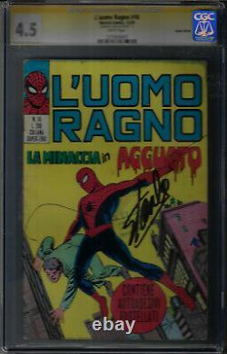 Amazing Fantasy 15 Édition Italienne L'uomo Ragno 18 Ss/cgc 4.5 Stan Lee Signature