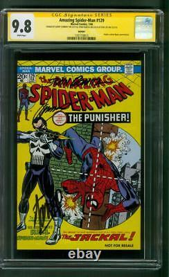 Amazing Spider Man 129 Cgc 3xss 9.8 Stan Lee Romita Hasbro Variante 1er Punisher