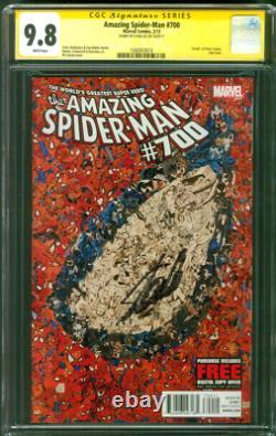 Amazing Spider Man 700 Cgc Ss 9.8 Stan Lee Auto Mort Peter Parker 2013
