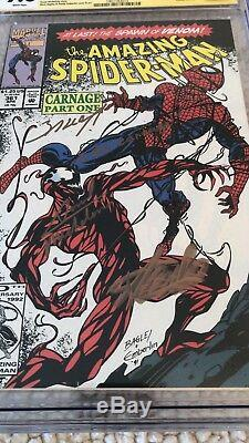 Amazing Spider Man Asm 361 Cgc 9.8 Stan Lee, Bagley, Michelinie Remarque Carnage