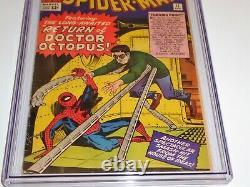 Amazing Spider-man #11 Cgc Ss Signature Autographe Stan Lee 2e Docteur Octopus