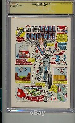 Amazing Spider-man # 129 Cgc 9.2 Ss Signé 4 Fois Stan Lee Wein Conway Thomas