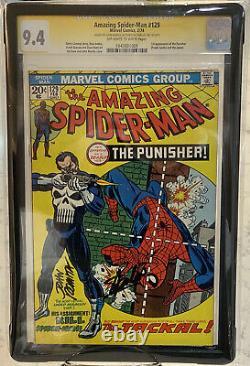 Amazing Spider-man 129 Cgc 9.4 Ss Stan Lee John Romita 1ère Apparition Punisher