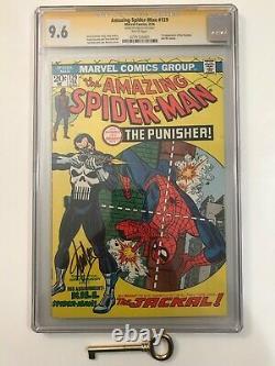 Amazing Spider-man #129 Cgc 9.6 Ss Signé Stan Lee! Première Punisher! Clé De L'âge Du Bronze