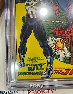 Amazing Spider-man 129 Cgc 9.6 Ss Stan Lee 1er Punisher Key Issue 1974