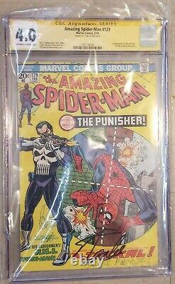 Amazing Spider-man 129 Cgc Signature Series 4.0 1ère Application Du Punisher Stan Lee