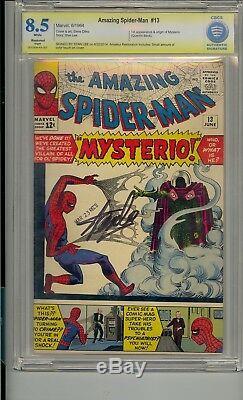 Amazing Spider-man # 13 Cbcs 8.5 Ss Signé Stan Lee 1er Mysterio Non Cgc Pharmacogénomique