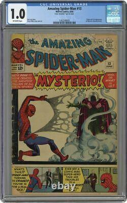 Amazing Spider-man 13 Marvel 1ère Application De Mysterio Cgc 1.0 Stan Lee Spiderman